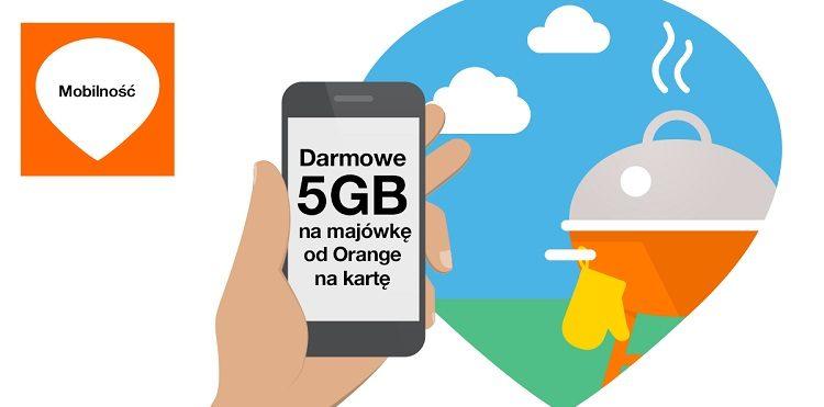 5GB na Majówkę w Orange na kartę