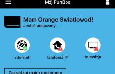 Aplikacja Mój Funbox służy do konfiguracji domowego WiFi.