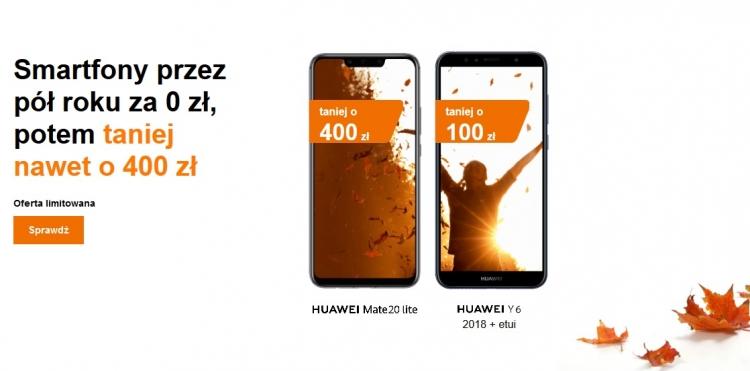 Smartfony Huawei taniej nawet o 400 PLN