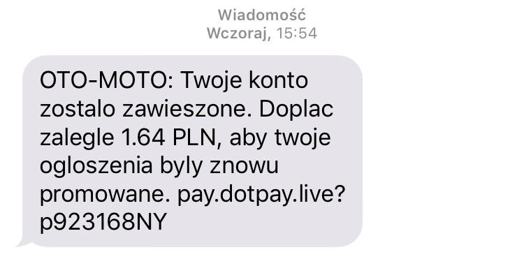 Przestępcy wysyłają SMSy