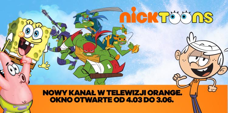Nicktoons w oknie otwartym w Orange TV