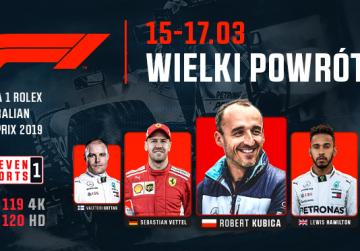 Nowy sezon Formula 1™ w ELEVEN SPORTS: wielki powrót Roberta Kubicy w 4K