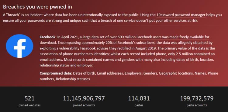 Wielki wyciek danych z Facebooka